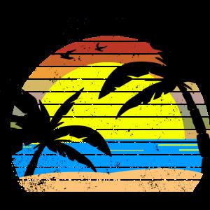 Urlauber Strandurlaub Strand Palmen Sonne Meer