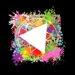 Grafitti farbenfroh bunt Dreieck cool trendig
