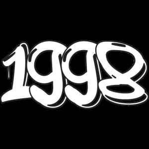 1998 Jahreszahl 1998 geboren Jahrgang 1998