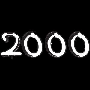 2000 Jahreszahl 2000 geboren Jahrgang 2000