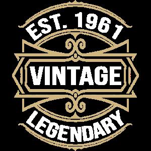 Est 1961 Vintage Legendär Geburtstagsgeschenk