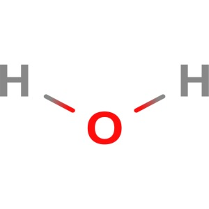 Water Molecule - Colored Structural Formula