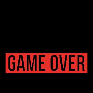 Game over ich heirate Geschenk Hochzeit Braut