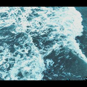 Aquarell Wunderbare Meereswellen