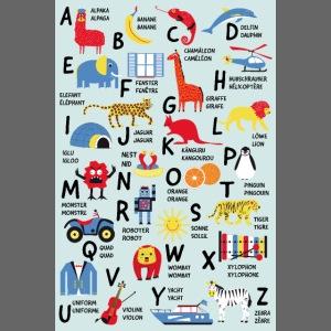 ABC Poster Bilingue Allemand Français Enfants