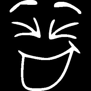 Emoji lachen Skizze weiß