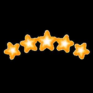 Sterne scribble Goldgelb