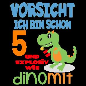 5. Geburtstag Dino Dinosaurier Vorsicht 5 Jahre