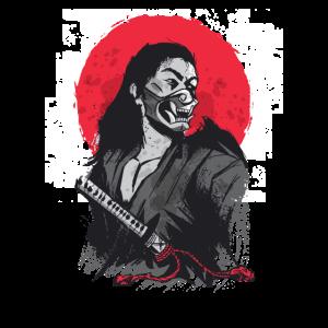 Japanischer Samurai Krieger Japan Katana Kämpfer