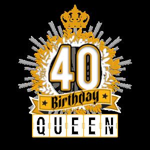 40. Geburtstag, 40. Geburtstag, Königin, Prinzessin T-Shirt
