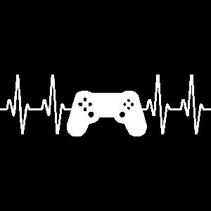 Controller Herzschlag Videospiele Geschenk