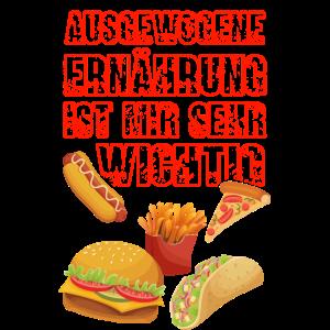 Lustiger Spruch Ernährung Fast Food Junk Food