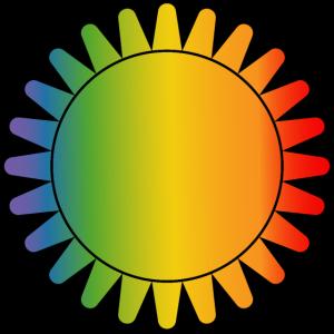 Regenbogen sonne