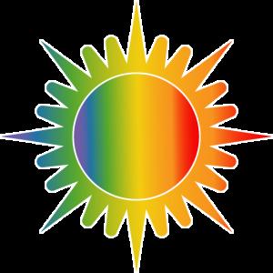 Regenbogen Sonnenstrahl
