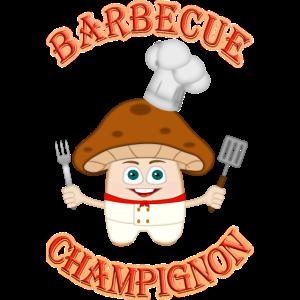 Barbecue BBQ Champignon Chef Griller