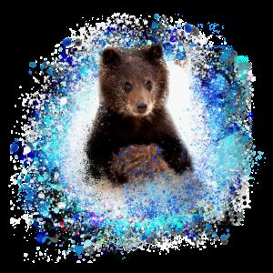 Bär, graffiti, blau,malerei,blau,junges,