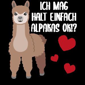 Lama Alpaka Geschenk Lustiger Spruch Witzig