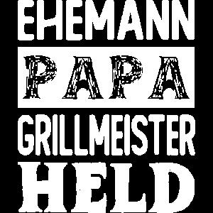Ehemann Papa Grillmeister Held Vatertag Grillen