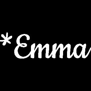 Mädchenname Emma als Schriftzug auf Babykleidung