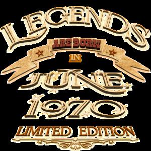 Die Legenden wurden im Juni 1970 geboren.