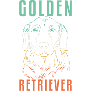 Golden Retriever Hund Design Retro