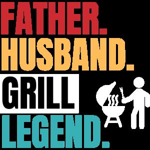 Grill spruch Papa Legende Geschenk