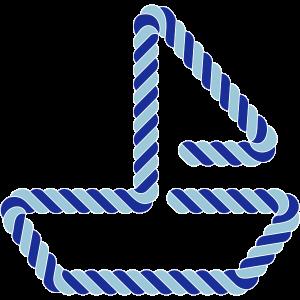 Segelboot 3 Farben