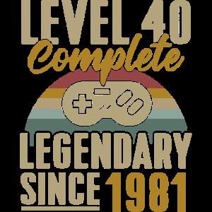 40 Geburtstag Jahrgang 1981 geboren