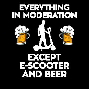 E-Scooter Elektroroller Und Bier