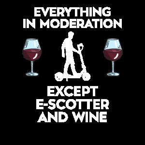 E-Scooter Elektroroller Und Wein