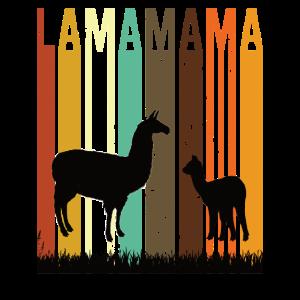 Lama Mama Maman Oma Retro Vintage