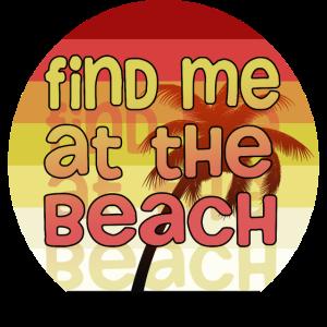 Finde mich am Strand / / Palme Sonnenuntergang Design
