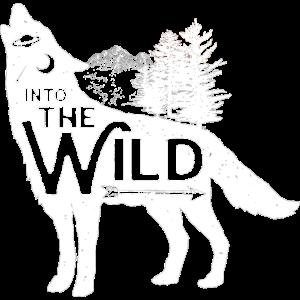 Einsamer Wolf in die Natur Wanderer Camper Wald