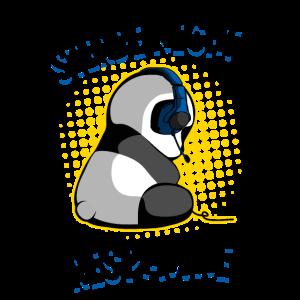 Gaming Panda Respawn Tod Zockender Bär Zocken Fun