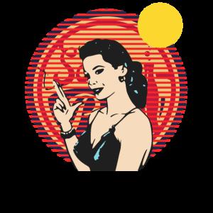 Retro-Kunst Vintage Frau