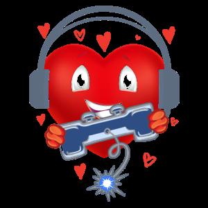 Gamer Herz Geschenk - Spiel Liebhaber Männer Kinde