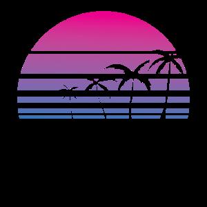 Palme tropisch Sommer Retro