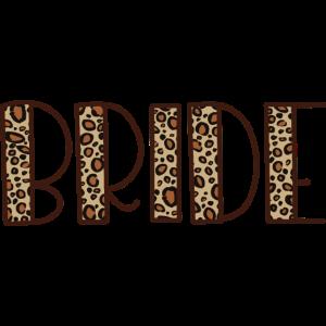 Braut - Leopard Haut, Bachelorette Party Geschenk