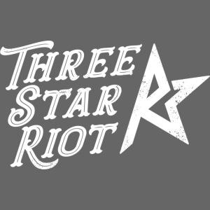 Three Star Riot logo vaalea