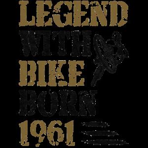 1961 Geborene Legende Mit Fahrrad