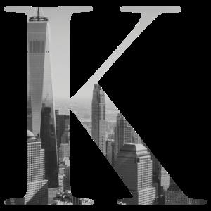 New Yorker Buchstabe K