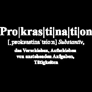 Prokrastination Def. weiß