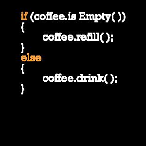 Programmierer Kaffee Witz Programmcode Scherz