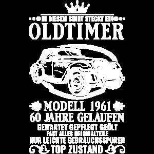 Vintage Oldtimer 1961 60. Geburtstag Geschenk