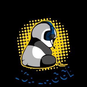 Gaming Panda Mir reicht's Zocken Zockender Bär Fun