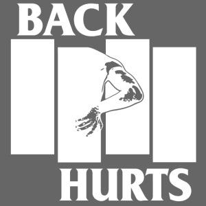 BACK HURTS white