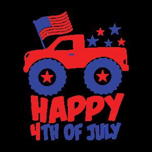 4. Juli USA Kinder Monster Truck