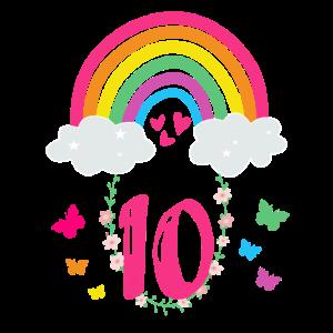10.Geburtstag Regenbogen Kind Mädchen Geschenk