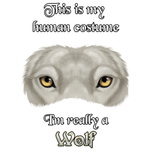 I'm really a Wolf - white