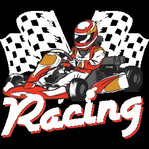 Gokart Karting Rennfahrer Motorsport Kart Vintage